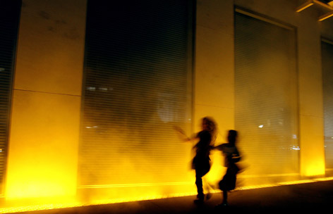 "Installation ""Yellow fog"""