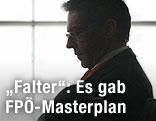 Die Silhouette des verstorbenen Kärntner Landeshauptmanns Jörg Haider