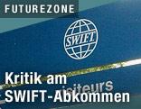 SWIFT-Logo auf Tafel