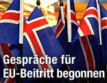 Isländische Nationalfahnen