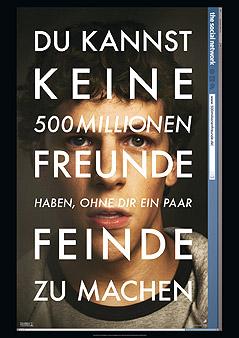 """Plakat des Films """"The Social Network"""""""