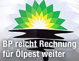 BP-Logo mit Ölteppich