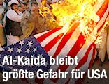 Brennende US-Flagge