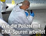 Ermittler der Spurensicherung am Tatort