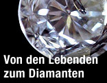 Diamant aus Asche von Verstorbenen