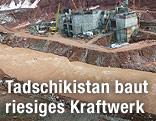 Baustelle am Rogun-Staudamm in Tadschikistan