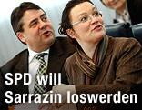 SPD-Chef Sigmar Gabriel und SPD-Generalsekretärin Andrea Nahles