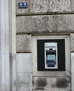 erster Bankomat Österreichs in der Schottengasse 6-8