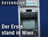 der erste Bankomat Österreichs
