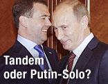 Dmitri Medwedew und Wladimir Putin