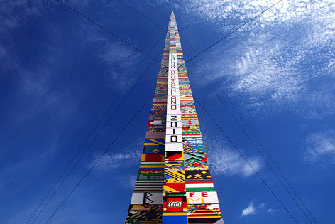 Höchster Legoturm der Welt im deutschen Günzburg