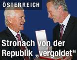 Magna-Gründer Frank Stronach und  BM Reinhold Mitterlehner