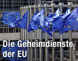 Flaggen der EU in Brüssel
