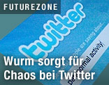 Screenshot der Twitter-Webseite