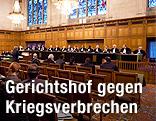 Saal des Internationalen Strafgerichtshofs in Den Haag