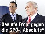 Bürgermeister Michael Häupl und FPÖ-Chef Heinz-Christian Strache