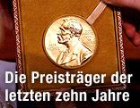 Medaille mit einem Porträt vno Alfred Nobel
