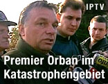 Ungarns Ministerpräsident Viktor Orban in Kolontar