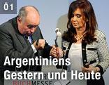 Vorsteher des Börsenvereins des deutschen Buchhandels Gottfried Honnefelder mit der argentinischen Präsidentin Christina Fernandez de Kirchner