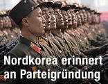 Nordkoreanische Soldaten in einer Parade