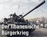Panzer im libanesischen Bürgerkrieg