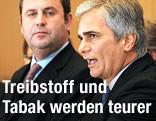 Bundeskanzler Faymann und Finanzminister Pröll