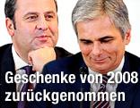 Finanzminister Pröll und Bundeskanzler Faymann