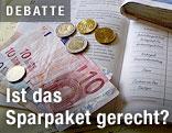 Euro-Münzen und -Scheine