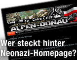 Screenshot des Website alpen-donau.info