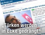 """Screenshot der Tageszeitung """"Die Presse"""""""