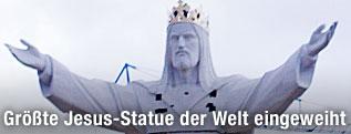 Weltgrößte Christusstatue in Polen