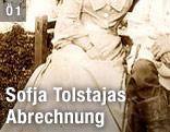 altes Foto mit Ausschnitt auf das Kleid einer Frau