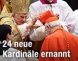 Papst Benedict XVI. bei Kardinalsernennung