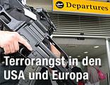 Polizist am Flughafen in England