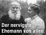 Schriftsteller Leo Tolstoi und Ehefrau Sofja Andrejewna Behrs