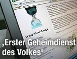 PC mit WikiLeaks-Website