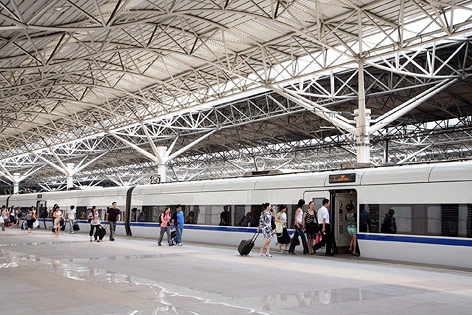 Hochgeschwindigkeitszugstation in Schanghai