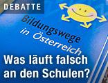 """Broschüre mit dem Titel """"Bildungswege in Österreich"""""""