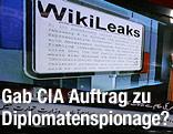 Bildschirm mit WikiLeaks-Dokumenten