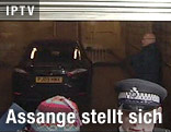 Assanges Auto in der Garage des Gerichtshofs