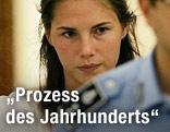 Amanda Knox beim Prozess 2009