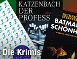 """Buchcover von """"Batmans Schönheit"""", """"Der Professor"""" und """"Natürliche Mängel"""""""