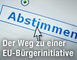 """Mauszeiger über einer """"Abstimmen""""-Schaltfläche"""
