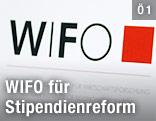 Schild mit WIFO-Logo