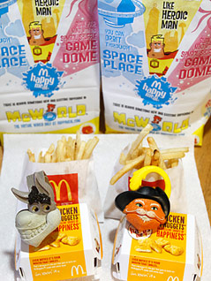 Happy Meal-Spielfiguren von Mcdonalds