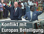 Jacques Chirac und Henri Konan Bedie