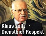 Tschechischer Staatspräsident Vaclav Klaus