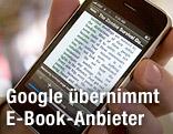 E-Book auf einem iPhone