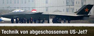 chinesischer Tarnkappenbomber J-20