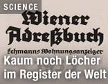 Wiener Adressbuch aus dem Jahr 1935